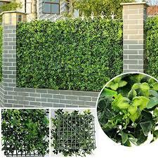 garden fence panels artificial hedges