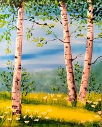 summer birch wine and canvas class in seattle with danielle