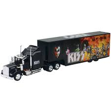 collectible detailed kiss rock band truck and trailer 1 43 scale cast com