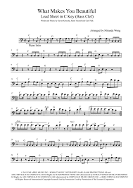 What Makes You Beautiful Lead Sheet In C Key Bass Clef