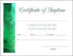 Baptism Certificate Template Doc Free Printable Certificates