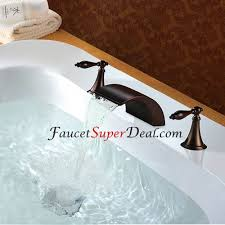 oil rubbed bronze finish antique style widespread waterfall bathtub faucet