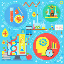 Flat Design Concept Of Science And Technology Scientific Research