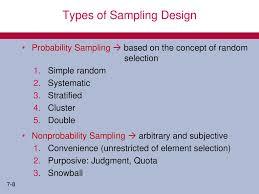 Types Of Sampling Design Meeting 6 Sampling Design Ppt Download