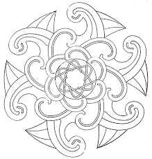 Difficult Geometric Design Coloring Pages Posted