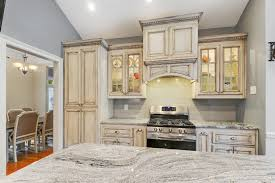 granite countertop and exhaust hood for kitchen remodel