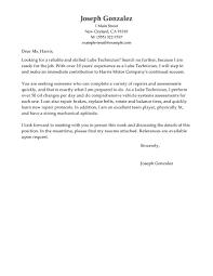 Letter Of Recommendation Mechanic 12 Tire Technician Job Description Resume Resume Letter