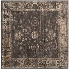 safavieh vintage soft anthracite  ft x  ft square area rug