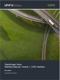 OpenScape Voice Interface Manual Volume 1 CDR Interface. Volume 1 CDR Interface