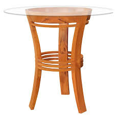 Chic teak furniture Round Chic Teak Half Moon Solid Wood Bar Table Walmart Chic Teak Half Moon Solid Wood Bar Table Walmartcom
