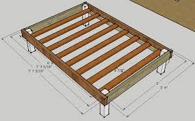 simple queen bed frame by luckysawdust lumberjocks woodworking munity