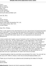 Bunch Ideas Of Sample Cover Letter For Data Entry Specialist Cute
