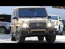 Kim kardashian shared a video on instagram were she showed her new mercedes truck of her dreams priced at $240k and who. Kylie Kardashian Takes A Joyride In Her Custard Mercedes G Wagon Youtube