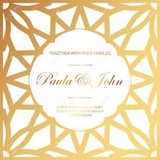 Royal Invitation Template Stylish Gold And White Wedding Card Royal Vintage Wedding Invitation