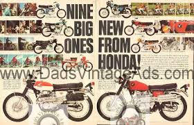 vintage honda motorcycle ads. 1968 nine new honda motorcycles u2013 vintage 2page advertisement motorcycle ads m
