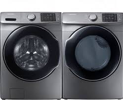 samsung steam washer and dryer. Simple And Samsung Silver 52 Cuft Front Load Washer And 75 Intended Steam And Dryer