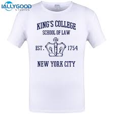 City Studio Dress Size Chart 2017 Hot Sales Short Sleeve Broadway Musical Kings College School Of Law Est 1754 Greatest City In The World T Shirt T Shirts For Men Cotton Shirt