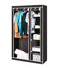 wardrobes wardrobe clothes storage shelves double hanging rail canvas cupboard solutio