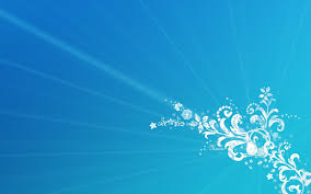 Blue Designs Blue Music Flower Corner Design Wallpapers Hd Wallpapers