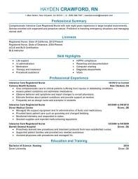 Iv Charting Example Best Intensive Care Nurse Resume Example Livecareer