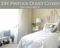 diy pintuck duvet cover easy made from 2 sheets