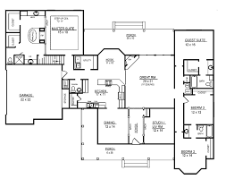 One Story House Plans  House Plans One Story  4 Bedroom House 4 Bedroom Townhouse Floor Plans
