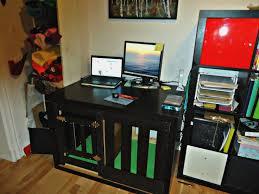 expedit dog crate multipurpose desk home decoratings and diy
