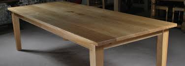 handmade oak tables from the oak and pine barn