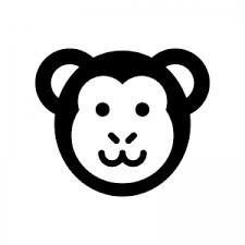 サルのシルエット 無料のaipng白黒シルエットイラスト
