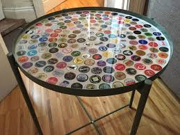 bottle cap furniture. Introduction: Bottle Cap Tray Table With Grout And Resin Furniture T