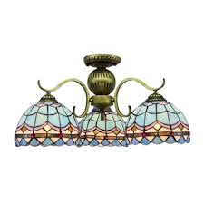 intricate lattice motif 3 5 lights tiffany chandelier with stained glass dome shades for living