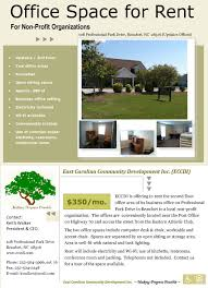 office space for lease flyer office space for rent east carolina community development inc