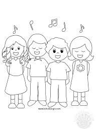 Bambini Che Cantano Da Colorare Tuttodisegnicom
