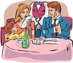 restaurants clipart. Perfect Restaurants Family Dining In A Fancy Restaurant Clipart  Royalty Free Clip Art Image In Restaurants I