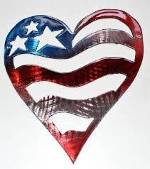 stars and stripes red white blue heart metal wall art decor 7 tall on patriotic outdoor wall art with email