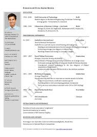 Examples Of Cv And Resume Examples Of Resumes