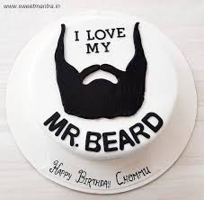 Beard Theme Customized Designer Fondant Cake For Boyfriends