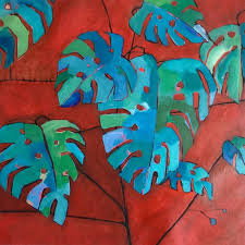 guatemalan leaves Painting by josie gallagher | Saatchi Art
