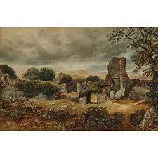 David Cox Jr Ruins In A Landscape Mutualart