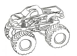 Motorcycle Coloring Pages Monster Truck Coloring