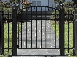 fence gate design. Exellent Gate Metal Patio Gate Left Handsintl Co Pertaining To Fences And Gates  Inspirations 4 Fence Design
