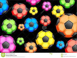 Het Behang Van Het Voetbal Stock Illustratie Illustratie Bestaande