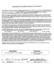 Lawn Service Contract Template A Look At A 2424 Commercial Lawn Care Contract Lawn Care 4