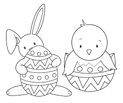 Small Picture Easter coloring pages bunny and duck ColoringStar