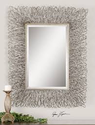 Small Picture Contemporary Silver Wire Metal Wall Mirror Large 56 eBay