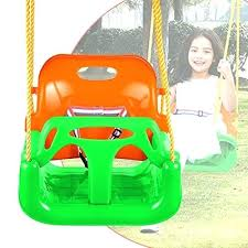 toddler playground set 3 in 1 secure swing seats high back infant toddler children playground swing