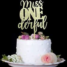 1st Birthday Cake Topper Miss Onederful For One Year Old Boy Baby