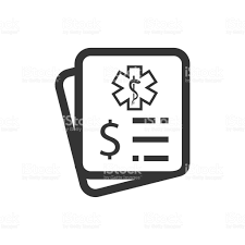 Medical Invoice Or Hospital Bills Icon Stock Vector Art & More ...