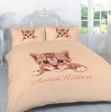 sweet kitten luxury new 3d bedding set panel print animal design duvet cover with pillow case previous next