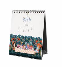 paper co 2017 alice in wonderland desk calendar